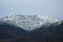 Let It Snow. Snow covers the mountains at 6000 feet Royalty Free Stock Images