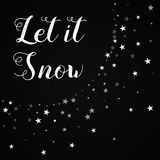 Let it snow greeting card. Stock Photography