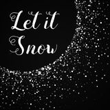 Let it snow greeting card. Royalty Free Stock Images