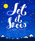 Let it snow lettering for Christmas greetings Stock Image