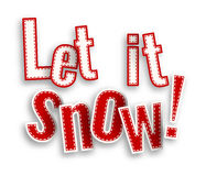 Let it snow, red text on white background with 3d effect, illustration. Let it snow, red text on white background with 3d effect, vector illustration, eps 10 Stock Photos