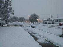 Snowing in corpus christi tx Royalty Free Stock Photo