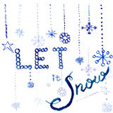 Let it Snow. Snowing on the white background Royalty Free Stock Photo