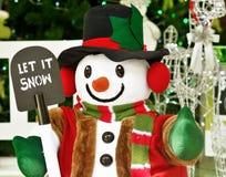 Let It Snow Snowman. Christmas Eve stock image