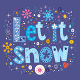 Let it snow text design. Let it snow typography lettering decorative text design Royalty Free Stock Images