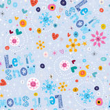 Let it snow winter seamless pattern Stock Photography