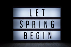 Let spring begin Royalty Free Stock Photography