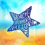 Let The Sunshine In, Summer Beach Poster Royalty Free Stock Image