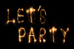 Lett party sparkler Royalty Free Stock Photos