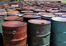 Let There Be Drums!. Collection of disused 40-gallon oil-drums Stock Image