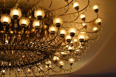 Let There Be Lights. Lights from a chandelier on a hotel lobby or home Royalty Free Stock Photography