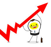 Let it UP!. To find a good idea to improve the performance (data Stock Photos