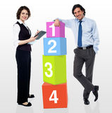 Let us help you in building your business Royalty Free Stock Photo