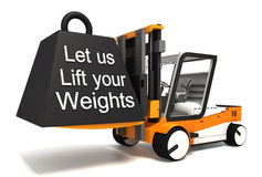 Let us lift your weights Royalty Free Stock Images