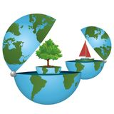 Let us save the planet! A green world on an ecological concept. ECO world on a concept in the ecological colors - For company Stock Photo