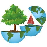 Let us save the planet! A green world on an ecological concept. ECO world on a concept in the ecological colors - For company Royalty Free Stock Image