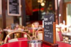 Let& x27;s eat in Paris! Royalty Free Stock Photos