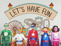 Let's Have Fun Children Kids Graphic Concept Royalty Free Stock Images