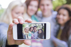 Let& x27;s take a selfie! Stock Photography