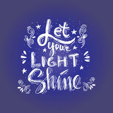 Let your light shine Stock Images