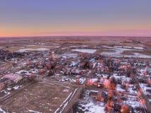 Letcher är en liten South Dakota stad arkivbild
