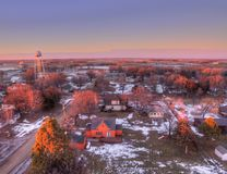 Letcher är en liten South Dakota stad royaltyfri foto