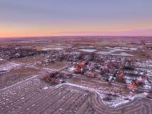 Letcher è una piccola città del Sud Dakota fotografia stock libera da diritti