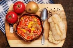 Letcho με τις ντομάτες και τα πιπέρια Στοκ εικόνες με δικαίωμα ελεύθερης χρήσης