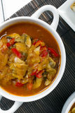 Letcho with paprika, zucchini and mushrooms. Letcho with paprika, zucchini and champignon mushroom Stock Photos