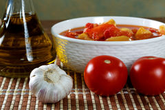 Letcho with tomato garlic and  oil Stock Photography