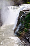 Letchworth Falls. View of waterfall at Letchworth State Park Stock Image