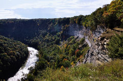 Letchworth Gorge. View of river gorge  at Letchworth State Park Stock Images
