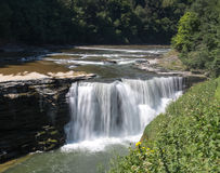 Letchworth Lower Falls Royalty Free Stock Photography