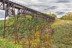 Letchworth Railorad Trestle in Autumn Royalty Free Stock Image