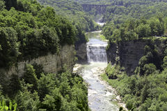 Letchworth State Park river gorge Stock Photo