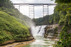 Letchworth Upper Falls Royalty Free Stock Images