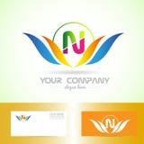 Leter N swoosh logo Royalty Free Stock Images