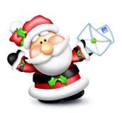 Leters εκμετάλλευσης Santa κινούμενων σχεδίων Στοκ Εικόνες