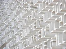 Leters coreanos em uma parede branca Imagem de Stock Royalty Free