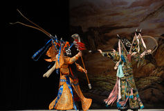"Lethal knife- Beijing Opera"" Women Generals of Yang Family"" Stock Images"