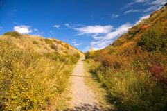 Lethbridge Coulee Path Stock Image