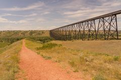 Lethbridge High Level Bridge Stock Photo