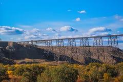 Free Lethbridge`s High Level Bridge In Fall Royalty Free Stock Photos - 159782188