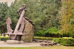 Letland. Ventspils. A park. Museum of Navigation. royalty free stock photography