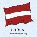 letland De achtergrond van de onafhankelijkheid Day Vectorillustratie met de vlag van L Royalty-vrije Stock Foto