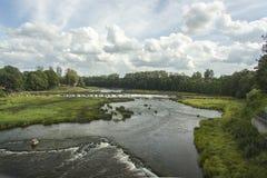 letland Dit is de langste waterval in Europa Stock Foto