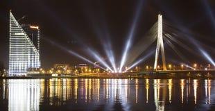Letland, Riga negentigste Stock Foto's