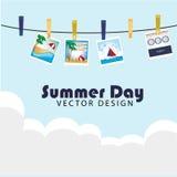 Letni dzień fotografie ilustracji