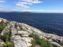 Letni dzień na wschodnim wybrzeżu Norway zdjęcie royalty free