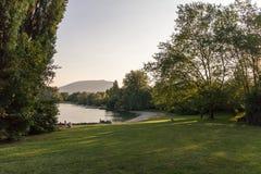 Letni dzień jeziorem Obraz Stock